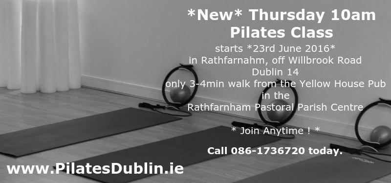 Pilates Classes in South Dublin, Rathfarnham Village, Willbrook, Nutgrove, close to Marlay Park, Churchtown, Ballinteer