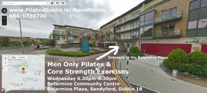 Men Only Pilates Belarmine Sandyford Aiken Village near Stepaside Dublin 18 D18
