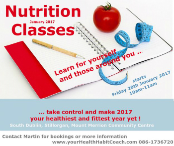 Nutrition Diet Food Health Classes South Dublin Stillorgan Goatstown Blackrock Foxrock Mount Merrion UCD