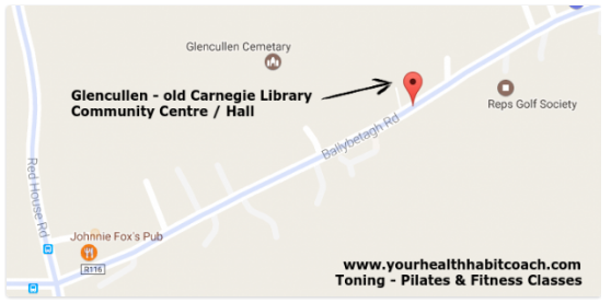 Map for Pilates Exercise Classes in Clencullen Community Centre Carnegie Library with Martin near Stepaside Kilternan Enniskerry Dublin 18