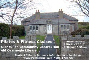Pilates Fitness Glencullen Community Centre Carnegie Library Dublin 18 near Stepaside Kilternan D18 Sandyford Leoaprdstown Enniskerry
